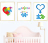 Autism Awareness Set of 3 Wall Art Print Home Decor Children Nursery Kids Poster