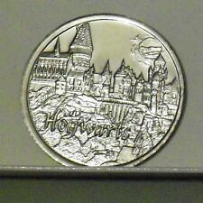 """HOGWARTS SCHOOL """"Harry Potter"""" Coin 2001 Gringotts Philosophers Stone UK Seller"""