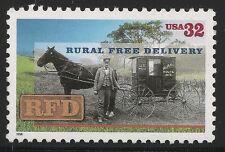 US Scott #3090, Single 1996 Rural 32c VF MNH