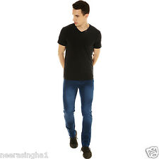 Nimegh Dark Blue Colored Denim Casual Solid Jeans For Men's