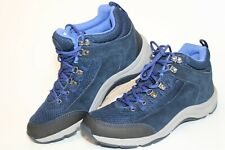 Vionic Cypress Womens 8.5 40 Blue Suede Mesh Sneakers Athletic Walking Shoes