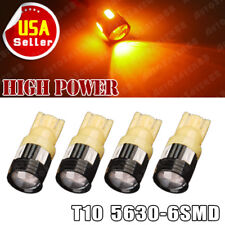 4X Amber/Yellow T10 Wedge High power 3W 5630 Projector LED Interior Light Bulbs