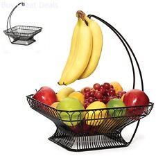 Fruit Basket Banana Wire Hanger Hook Kitchen Storage Vegetable Keeper Organizer