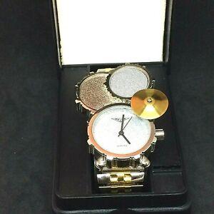 Mens~RARE~Quartz Original~Zzyzx drum set watch~2001 watch In The Box!