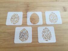 5 stencils Face paint stencil reusable washable easter eggs Mylar 190 microns