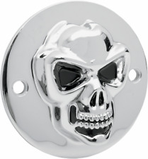 3-D Skull Points Cover Chrome Skull Harley Fat Bob EVO 1984-99