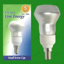 4x 5W R50 Low Energy CFL Reflector Spot Light Bulbs E14 Small Screw SES Lamps