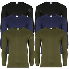 Mens Twin Pack Long Sleeve Thermal Top T Shirt Baselayer Designer Underwear vest