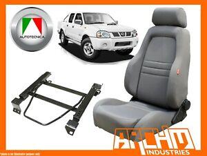AUTOTECNICA ADVENTURER 4WD SEAT CLOTH GREY FOR NISSAN D22 NAVARA LEFT ADAPTOR
