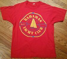 Vintage Bahamas Yacht Club Nassau T-Shirt Screen Stars 50/50 Men's Large/sailing