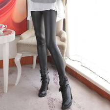 Stock Clearance Lose Money Women Legging Thin Stretchy Solid Leather Leggings
