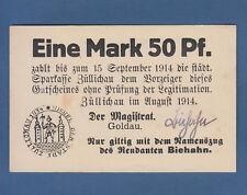 ZÜLLICHAU 1,50 Mark 1914 fast KASSENFRISCH / aUNC