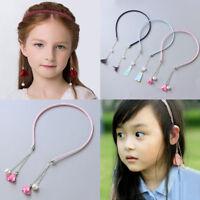 Girl retro tassel fake earring hair hoop bands holder headband accessories Yf