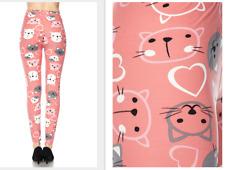 Pink Kittens Peach Skin Feel Leggings - One Size fits 2-16