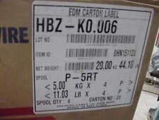 """4 Spools Hitachi  00006000 Edm Machine Wire Hbz-K0.006 20 Kg./44.10Lb total Size 0.006"""""""