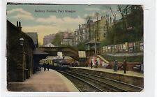 More details for railway station, port glasgow: renfrewshire postcard (c27706)