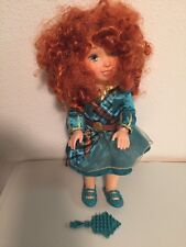 "My First Disney Princess Merida 14"" Doll Green Dress Shoes Brush Posable Jointed"