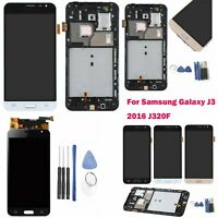 For Samsung Galaxy J3 2016 SM-J320FN LCD Display Digitizer Touch Screen + Frame