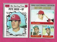 2 X  1970 TOPPS CINCINNATI REDS PETE ROSE   CARD (INV# C5593)