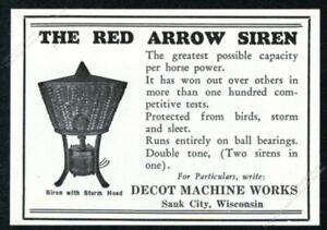1930 Decot Red Arrow siren photo vintage trade print ad