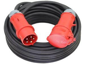 CEE Starkstromkabel H07RN-F 400V Kabel 32A 5x4/5x6 mit MENNEKES Stecker/Kupplung