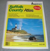 Long Island Suffolk County NY New York Road Street Maps Atlas Hagstrom 1995