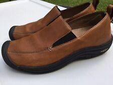 Keen Verona Women's 6.5M Brown Leather Slip On Loafer Shoe Comfort Walking EUC!