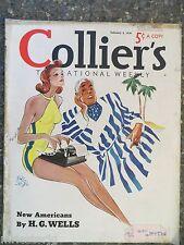 Collier's Magazine   February 5,1938   *Eric Godal*  GREAT ADS