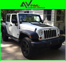 Blackout Hood Decal Matte Black Out w/ install kit Fits: Jeep Wrangler JK 07-18