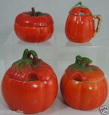 Vintage Jam Pots Jelly Jar Mustard Condiments Tomato Vegetable Set of 4 Germany