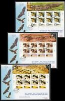 ISRAEL 2013 EAGLES CONSERVATION 3 SHEETS STAMPS BIRDS FAUNA VULTURE GRIFFON FDC