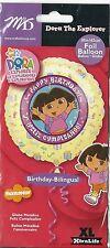 "Happy Birthday Dora the Exporer Feliz Cumpleanos 18"" Mylar Foil Balloon NEW"