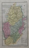 1808 Nottinghamshire Original Antique Hand Coloured County Map 212 Years Old