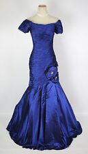 NEW $640 Jovani Royal off Shoulder Mermaid Long Gown Cruise Formal Size 4 Dress