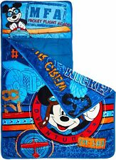 Disney Mickey Mouse Toddler Nap Mat Blanket Pillow Plush Boys Baby New