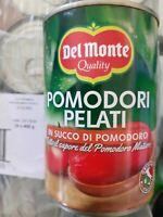 3 LATT. 400GR DEL MONTE POMODORI MATURI SUCCO POMODORI  PELATI ITALIANI CONSERVE