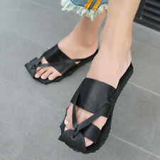 Mens Waterproof Beach Casual Flats Sandals Clip Toe Thong Backless Slippes Shoes