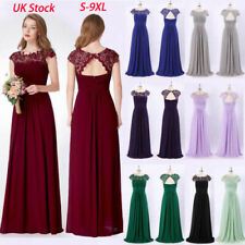 UK Ever-Pretty Lace Long Bridesmaid Dresses Wedding Evening Prom Dresses 09993