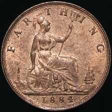 More details for 1884   victoria farthing   bronze   coins   km coins