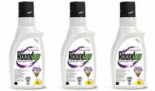 *Lot Of 3* Roundup 1L Weed Dandelion Killer Control Super Concentrate Herbicide