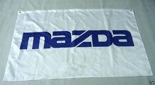 White Flag Banner Car Racing Flag for mazda flag 3x5 FT Free shipping