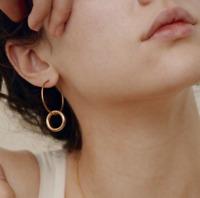 Fashion Women Elegant Gold Silver Plated Circle Drop Dangle Earrings Jewelry New