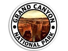 4x4 inch Round GRAND CANYON National Park Sticker - arizona camp hike travel rv
