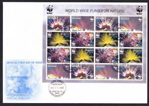 Micronesia WWF Feather Stars FDC Sheetlet of 4 sets 2005 SG#1347-1350