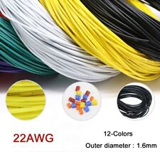 22AWG Flaxible Stranded Electronic Wire UL1007 PVC Cable O.D 1.6mm 12-Colors