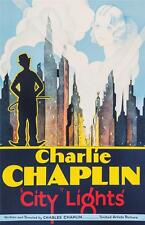 Charlie Chaplin City Lights Vintage Movie Poster Fine Art Lithograph COA S2