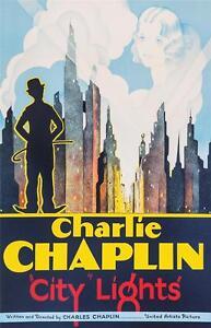 Charlie Chaplin City Lights Vintage Movie Poster Lithograph S2 Art