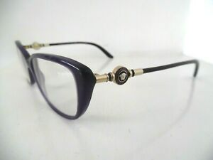 Ladies Versace Black & Gold Oval Eye Glasses MOD: 3175 GB1 54 16 140 Made Italy