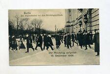1906 Dt. Reich AK Berlin Der Reichstag wird aufgelöst 13. Dezember 1906