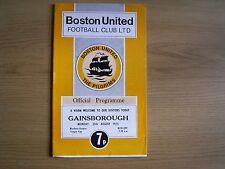 BOSTON UNITED v GAINSBOROUGH TRINITY Northern Premier League Cup 1975-76